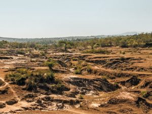 land degradation due to overfarming